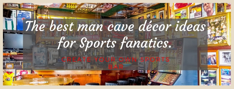 The best man cave décor ideas for Sports fanatics. Create your own sports bar.