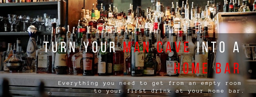 Turn your man cave into a home bar