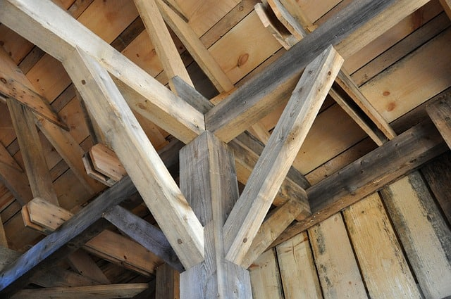 A beam roof is a great look for a man shed.