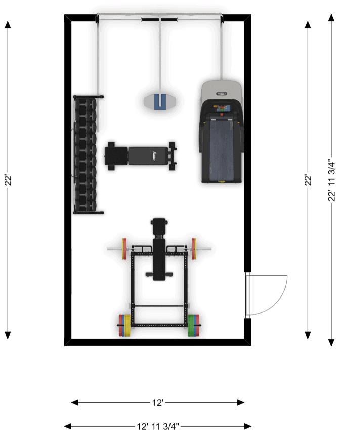 Single Garage Home Gym Floor Plans Free The Masculine Male