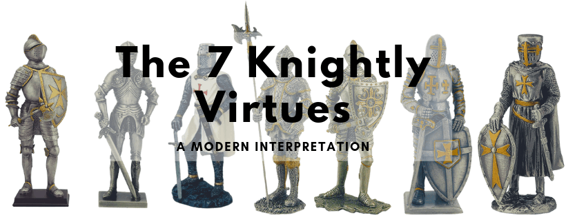 The seven knightly virtues header